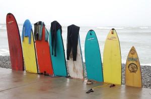 windsurfingové dosky vyrobé z polyuretánovej peny